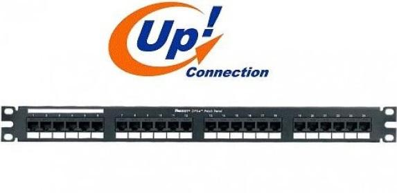 PATCH PANEL 24 PORTAS CAT6  - UP CONNECTION